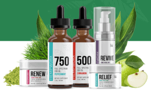 An image of CBD products