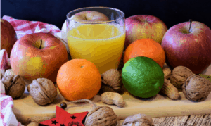 An image of fresh fruits and vegetables used for detox diet and cleanse