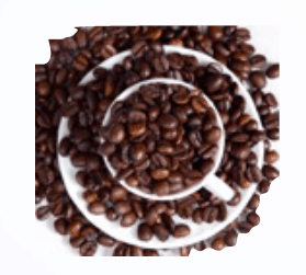 An image of natural caffeine from coffee bean