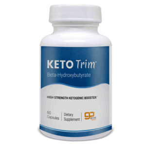 An image of one bottle of Keto Trim is a formula