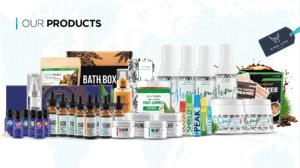 An image of all hemporx mydailychoice products i history of cbd