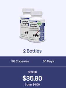 An image of two bottles of immune complex