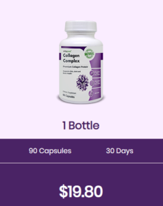 An image of one bottle of vitapost collagen complex