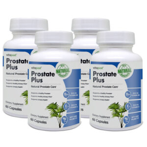 An image of four bottles of Prostate Plus - Prostate health supplements