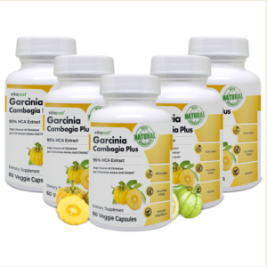 An image of 5 bottles of Garcinia Cambogia Plus - Weight Loss Supplement