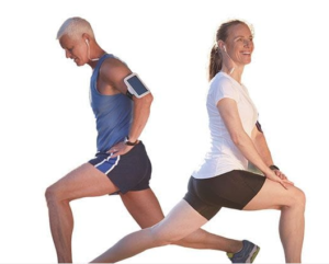 An image of a man and a woman doing exercise